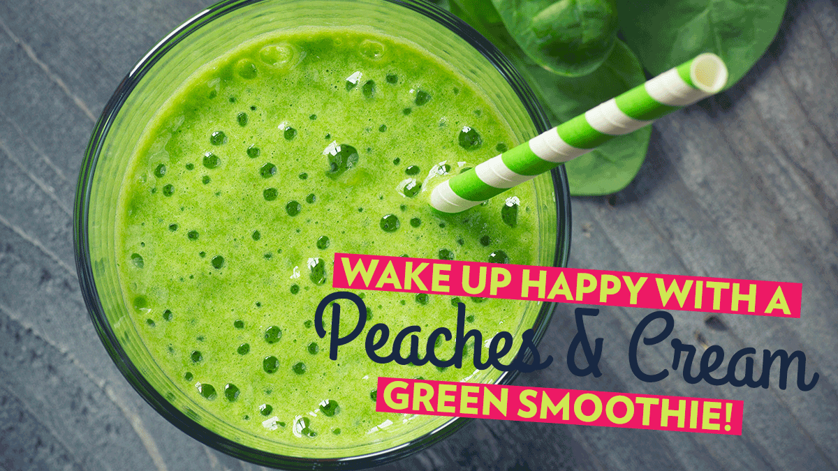 Image of Bodyrock blog article - Wake Up Happy With A Peaches And Cream Green Smoothie!
