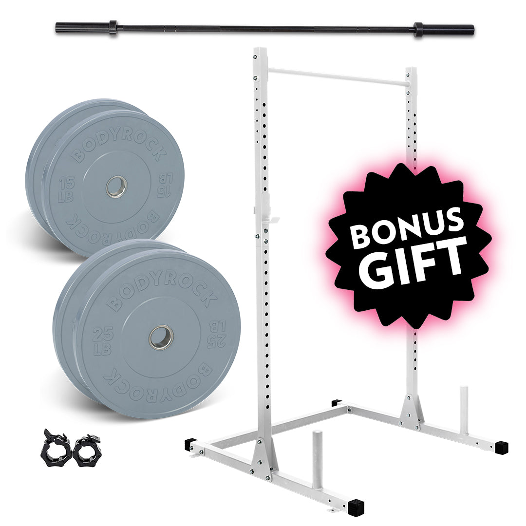 Olympic Bar Set + FREE Squat Rack!