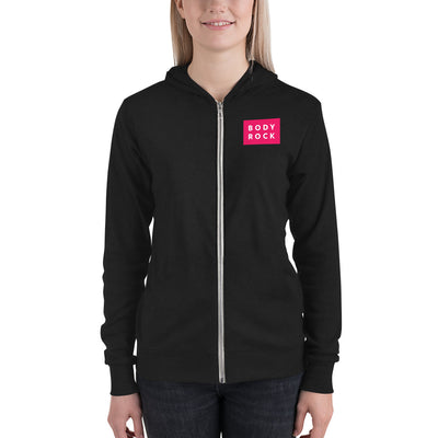 Image of BodyRock BodyRock Unisex zip hoodie Solid Black Triblend / XS by BodyRock.Tv