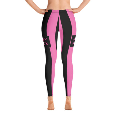 Image of BodyRock BodyRock women's pink striped Leggings XS by BodyRock.Tv