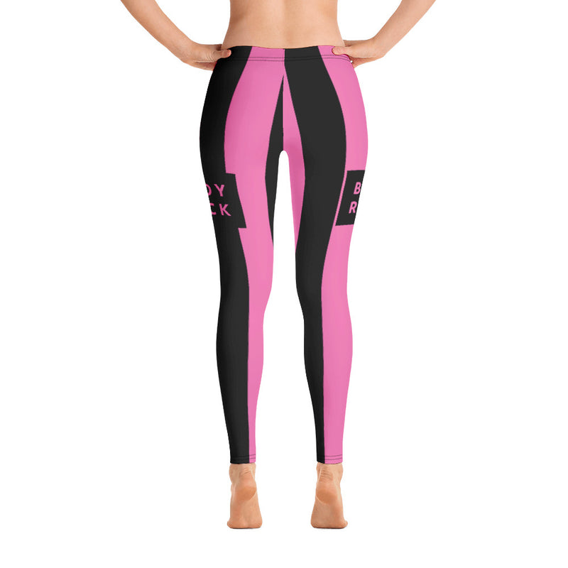 Image of BodyRock BodyRock women's pink striped Leggings [variant_title] by BodyRock.Tv