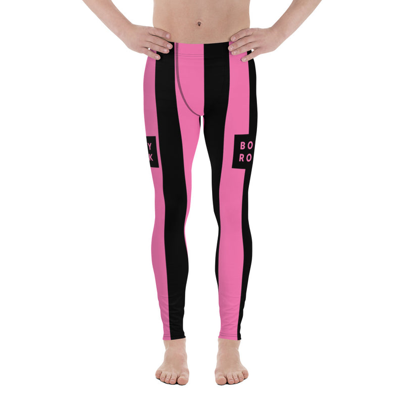 BodyRock pink striped Men's Leggings