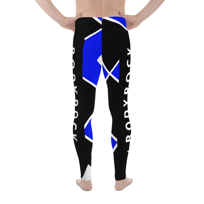 Image of BodyRock Men's BodyRock blue Leggings XS by BodyRock.Tv