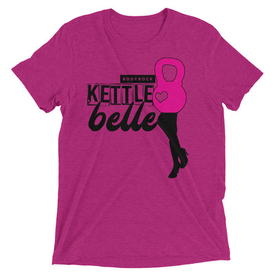 Image of BodyRock Kettle Belle t-shirt Berry Triblend / XS by BodyRock.Tv