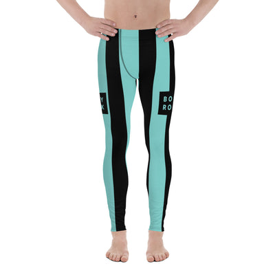 Image of BodyRock BodyRock blue striped Men's Leggings XS by BodyRock.Tv