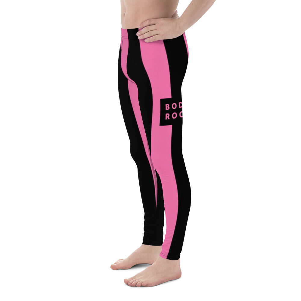 Image of BodyRock BodyRock pink striped Men's Leggings [variant_title] by BodyRock.Tv