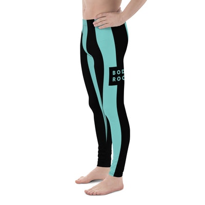 Image of BodyRock BodyRock blue striped Men's Leggings [variant_title] by BodyRock.Tv
