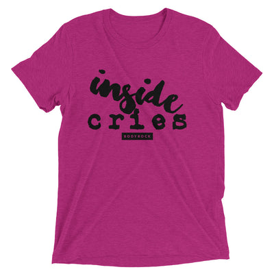 Image of BodyRock Inside Cries t-shirt Berry Triblend / XS by BodyRock.Tv