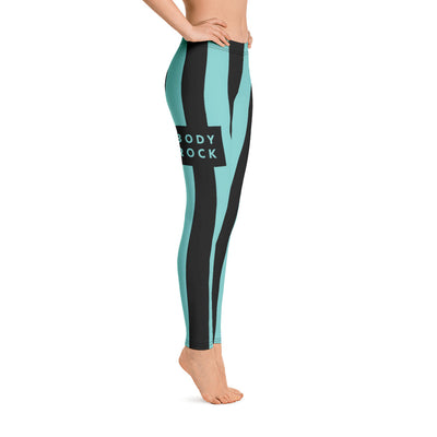 Image of BodyRock BodyRock women's blue striped leggings [variant_title] by BodyRock.Tv