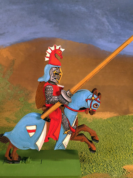 Knight with Phoenix Helmet Crest (var1) - (Mounted / On Foot)