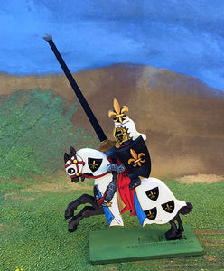Knight with Fleur de Lis Helmet Crest (var2) - (Mounted / On Foot)