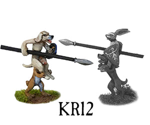 Dog and Rabbit Jousting Set