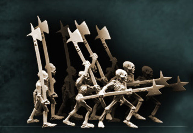 Skeletons with Halberds