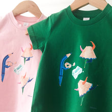 Load image into Gallery viewer, Kids T-shirt 'Dancing Pencil Sharpenings'