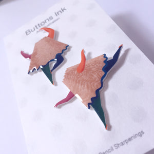 'Dancing Pencil Sharpenings' Handmade Earrings