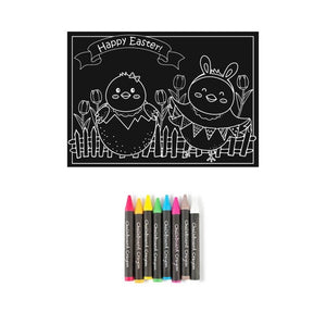 Easter Chalkboard Coloring Kit