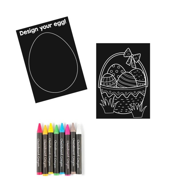 Small Easter Chalkboard Coloring Kit