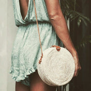 Rattan Woven Shoulder Bag