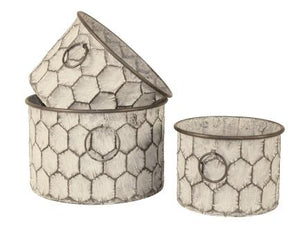 Planter, Round Honeycomb (each size sold separate)