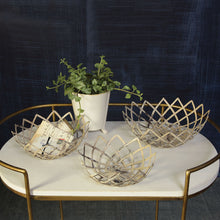 Load image into Gallery viewer, Antique White Metal Woven Basket (each size sold separate)