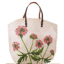 Load image into Gallery viewer, Floral Bag with Leather Handles