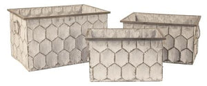Planter, Rectangular Honeycomb (each size sold separate)