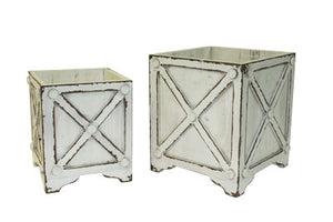 Planter, Cross Hatch Cube (each size sold separate)