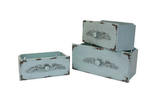 Planter, Turquoise Rectangular Drawer (each size sold separate)