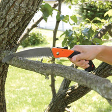 Load image into Gallery viewer, Tri-Edge Folding Pruning Saw with 7-Inch Curved Blade