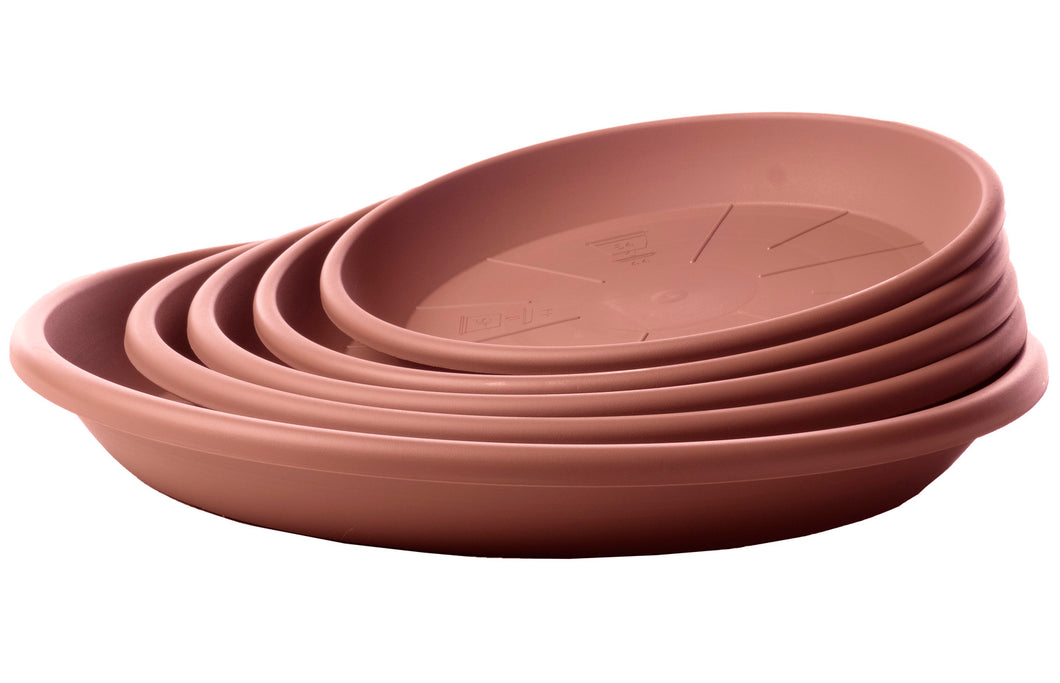 Geo Saucer, Terra Cotta colored (sizes sold separately)