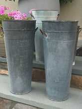 Load image into Gallery viewer, French Zinc Flower Bucket (each size sold separate)