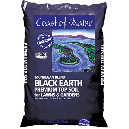 Black Earth Topsoil, Monhegan blend 1 cu ft