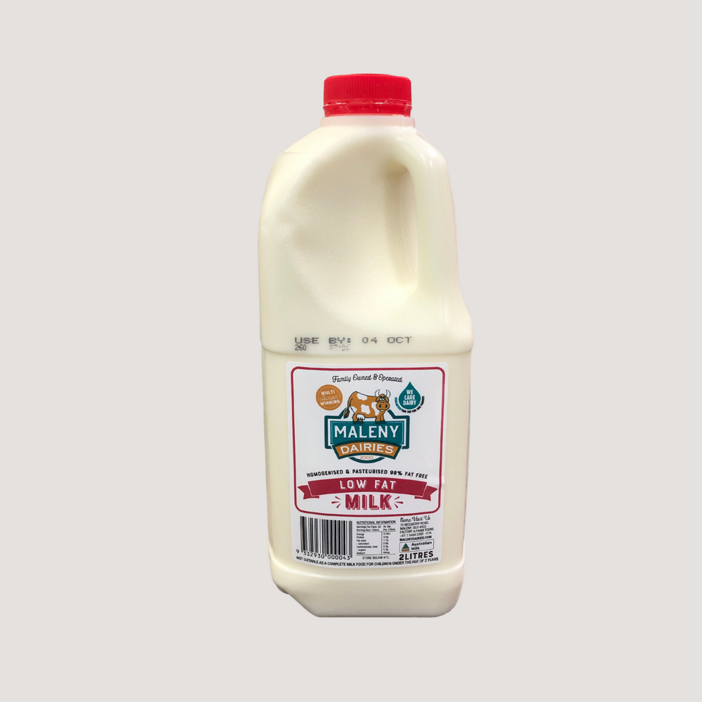 Milk, Maleny, Low Fat, Red Top