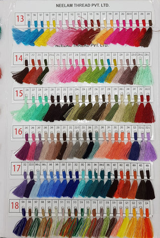 Neelam Colour chart Dyeing