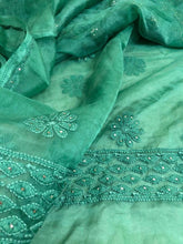 Load image into Gallery viewer, Organza Mukaish Chikankari Suit - Dress365days