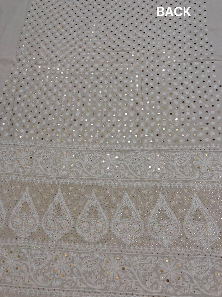 All Over Front and Back Chikankari Suit with Embroidered Dupatta