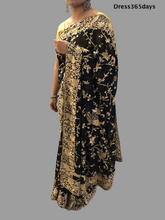 Load image into Gallery viewer, Black Parsi Gara Saree