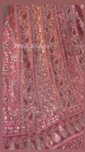 Load and play video in Gallery viewer, Peach Gota Patti Chikankari Anarkali Suit
