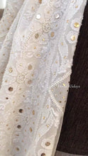 Load and play video in Gallery viewer, Ivory Kamdani & Pearl Chikankari Suit