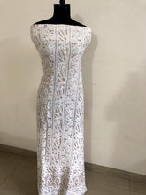 Load image into Gallery viewer, Chikankari and Gota Patti Viscose Georgette Kurti Fabric