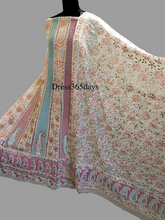 Load image into Gallery viewer, Multicolour Chikankari Anarkali Suit & Embroidered Dupatta (Three Piece) - Dress365days
