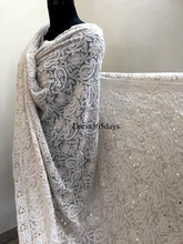 Load image into Gallery viewer, Ivory Kamdani Lucknowi Chikankari Dupatta - Dress365days