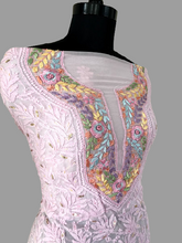 Load image into Gallery viewer, Powder Pink Multicolour Neckline Chikankari Suit - Dress365days