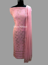 Load image into Gallery viewer, Pink Gota Patti Lucknowi Chikankari Suit