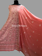 Load image into Gallery viewer, Peach Gota Patti Chikankari Anarkali Suit - Dress365days
