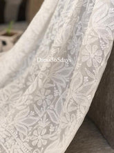 Load image into Gallery viewer, Ivory hand Jaali Chikankari Suit - Dress365days