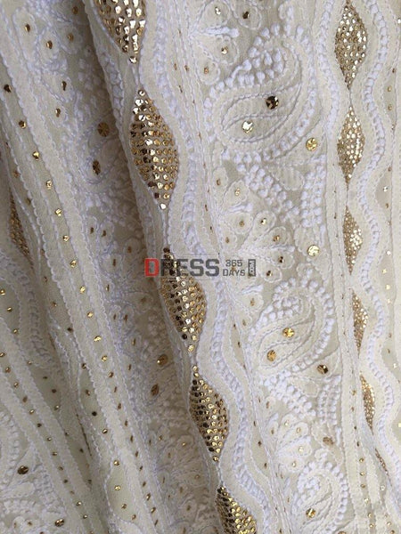 All Over Back And Front Mukaish Chikankari Suit Suits