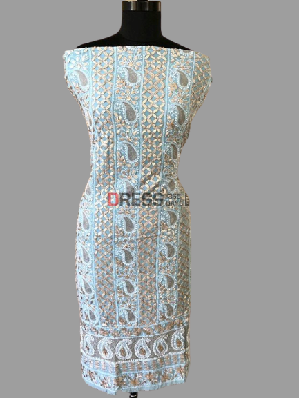 All Over Front and Back Gota Patti Chikankari Suit (Three Piece)