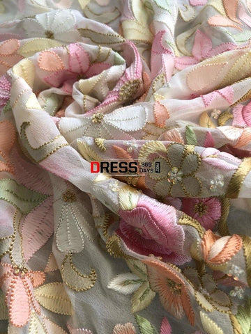 All Over Multicolour Parsi Gara Chikankari Suit (Pre-Order) Suits