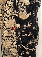 Load image into Gallery viewer, Parsi Gara Gold and Black Saree